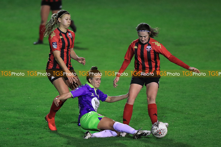 Ella Mastrantonio of Bristol City puts in a challenge during Lewes Women vs Bristol City Women, FA Women's Continental League Cup Football at The Dripping Pan on 18th November 2020