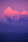 Alpenglow over Alaska Range, Denali National Park, Alaska