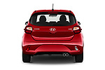 Straight rear view of 2020 Hyundai i10 Sky-Line 5 Door Hatchback Rear View  stock images