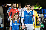 St Johnstone v Ross County…24.10.17…  McDiarmid Park…  SPFL<br />New captain Joe Shaughnessy leads the team out<br />Picture by Graeme Hart. <br />Copyright Perthshire Picture Agency<br />Tel: 01738 623350  Mobile: 07990 594431