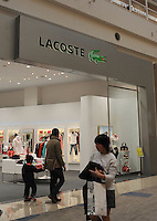 A Lacoste fashion store in Tokyo, Japan..