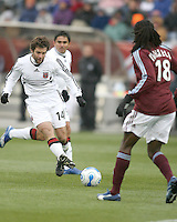 Ben Olsen tries a shot. In their first game in their new stadium Colorado Rapids held on to beat DC United 2-1 at Dick's Sporting Goods Park in Commerce City, Colorado on April 7 2007 before the first sellout crowd in Rapids history.