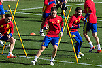 Spainsh Ander Herrera and Juan Mata  during the training of the spanish national football team in the city of football of Las Rozas in Madrid, Spain. November 09, 2016. (ALTERPHOTOS/Rodrigo Jimenez)