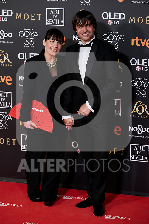 Manu Guix attends to 33rd Goya Awards at Fibes - Conference and Exhibition  in Seville, Spain. February 02, 2019. (ALTERPHOTOS/A. Perez Meca)