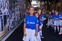 PASADENA, CA - AUGUST 4: Player escorts stand in the tunnel during a game between Ireland and USWNT at Rose Bowl on August 3, 2019 in Pasadena, California.