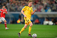 Kevin De Bruyne forward of Belgium is attacking  <br /> Saint Petersbourg  - Qualification Euro 2020 - 16/11/2019 <br /> Russia - Belgium <br /> Foto Photonews/Panoramic/Insidefoto <br /> ITALY ONLY