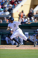 Detroit Tigers outfielder Rajai Davis (20) during a spring training game against the St. Louis Cardinals on March 3, 2014 at Joker Marchant Stadium in Lakeland, Florida.  Detroit defeated St. Louis 8-5.  (Mike Janes/Four Seam Images)