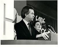 Joe Clark<br /> , le 27 fevrier 1981<br /> <br /> PHOTO : agence quebec presse