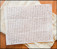 BNPS.co.uk (01202 558833)<br /> Pic: PhilYeomans/BNPS<br /> <br /> Letter from Pte Ambrose's father Ted telling him how to behave in France.<br /> <br /> Discovered in a loft - Poingnant reminder of families tragic loss during the Great War.<br /> <br /> A moving time capsule containing the last belongings of a dead soldier his family couldn't bring themselves to look at has been found in an attic after 98 years.<br /> <br /> The possessions of Private Edward Ambrose were sent home from the Western Front to his devastated parents after he was killed at the Somme.<br /> <br /> Too painful to look at, the poignant items were shut into a leather case and put into storage where they remained for almost a century.<br /> <br /> The case has now been opened by Pvt Ambrose's 82-year-old nephew who recovered it after reading about an appeal for untold stories for a local First World War exhibition.<br /> <br /> The effects include black and white photos of his loved ones, letters from his parents, his half-smoked pipe and a cigarette case with 10 roll-ups.