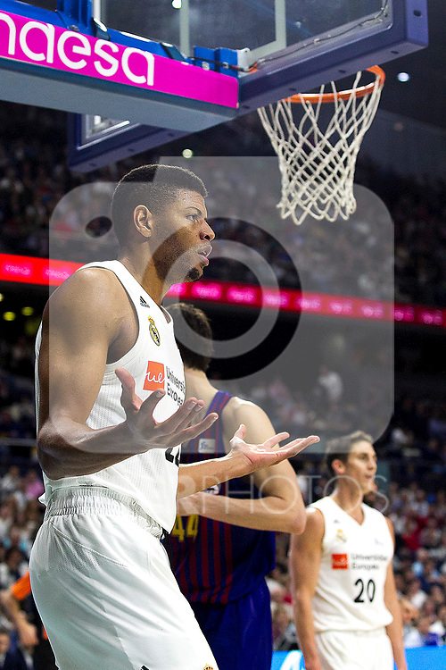 Real Madrid's Walter Tavares during Liga Endesa match between Real Madrid and FC Barcelona Lassa at Wizink Center in Madrid, Spain. March 24, 2019.  (ALTERPHOTOS/Alconada)
