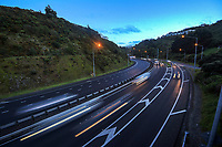 State Highway One, Ngauranga Gorge at 6.30am, Tuesday during Alert Level 2 for the COVID-19 pandemic in Wellington, New Zealand on Tuesday, 14 September 2021.