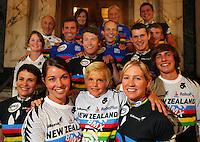 BikeNZ's 15 world champions. BikeNZ/SPARC World Champions media session at Sparc Headquarters, Wellington, New Zealand on Wednesday, 2 December 2009. Photo: Dave Lintott / lintottphoto.co.nz