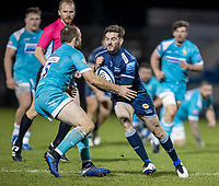 8th January 2021; AJ Bell Stadium, Salford, Lancashire, England; English Premiership Rugby, Sale Sharks versus Worcester Warriors; Will Cliff of Sale Sharks is tackled by Chris Pennell of Worcester Warriors