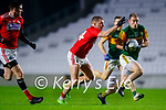 Stephen O'Brien, Kerry in action against Brian Hurley, Cork, during the Munster GAA Football Senior Championship Semi-Final match between Cork and Kerry at Páirc Uí Chaoimh in Cork.