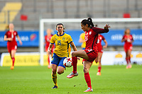 Gothenburg, Sweden - Thursday June 08, 2017: Christen Press during an international friendly match between the women's national teams of Sweden (SWE) and the United States (USA) at Gamla Ullevi Stadium.