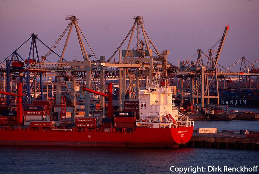 Deutschland, Hamburg, Containerhafen