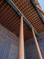 Detail von Medrese, Xiva, Usbekistan, Asien, UNESCO-Weltkulturerbe<br /> Detail of madrasa, historic city Ichan Qala, Chiwa, Uzbekistan, Asia, UNESCO heritage site
