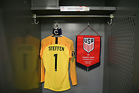 CLEVELAND, OHIO - JUNE 22: United States locker room during a 2019 CONCACAF Gold Cup group D match between the United States and Trinidad & Tobago at FirstEnergy Stadium on June 22, 2019 in Cleveland, Ohio.
