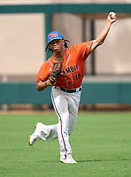 Escambia Gators outfielder JoJo Blackmon (16) during practice before the 42nd Annual FACA All-Star Baseball Classic on June 5, 2021 at Joker Marchant Stadium in Lakeland, Florida.  (Mike Janes/Four Seam Images)