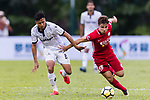 Chi Chung Wong (L) of Dreams FC fights for the ball with Torres Sartori Igor (R) of Wofoo Tai Po during the Dreams FC vs Wofoo Tai Po match of the week one Premier League match at the Aberdeen Sports Ground on 26 August 2017 in Hong Kong, China. Photo by Yu Chun Christopher Wong / Power Sport Images