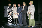 Fashion model Hikari Mori (L), Lawrence Ho chairman and CEO of Melco Resorts and Entertainment Ltd. (C) and his wife (C-L), model Kate Moss (2nd from R) and kabuki actor Shido Nakamura, attend the opening ceremony for the KIMONO ROBOTO exhibition at Omotesando Hills on November 30, 2017, Tokyo, Japan. The exhibition features 13 kimonos created by experts using traditional methods and a humanoid robot dressed in traditional kimono performing in the middle of the hall. The exhibition runs til December 10. (Photo by Rodrigo Reyes Marin/AFLO)