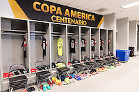 Glendale, AZ - Sunday Jan. 12, 2014: USA Locker Room prior to a Copa America Centenario third place match match between United States (USA) and Colombia (COL) at University of Phoenix Stadium.