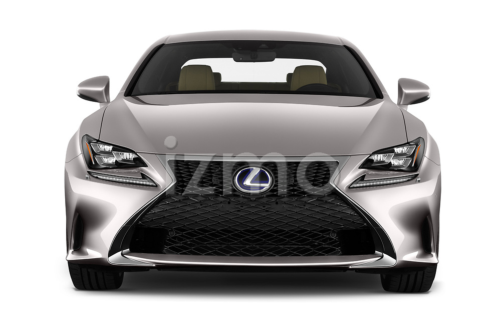 Car photography straight front view of a 2017 Lexus RC F-SPORT-Line 2 Door Coupe Front View
