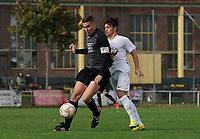 Jakob Menger (Goddelau) gegen Alexandru-Dorel Mihai (Gustavsburg) - 04.10.2020: Fussball Kreisliga A Germania Gustavsburg vs. TSV Goddelau