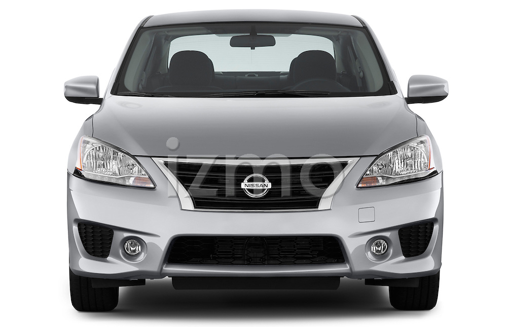 Straight front view of a 2013 Nissan Sentra SR