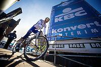 De Ronde van Vlaanderen 2012..Steve Chainel coming from the podium