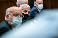 Anthony Fauci, director of the National Institute of Allergy and Infectious Diseases, and other health officials testify before the House Energy and Commerce Committee in Washington, D.C., U.S., on Tuesday, June 23, 2020. Trump administration health officials will tell lawmakers that their agencies are preparing for a flu season that will be complicated by the coronavirus pandemic. <br /> Credit: Sarah Silbiger / Pool via CNP/AdMedia