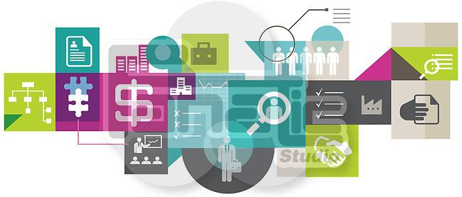 Illustrative image collage representing recruitment