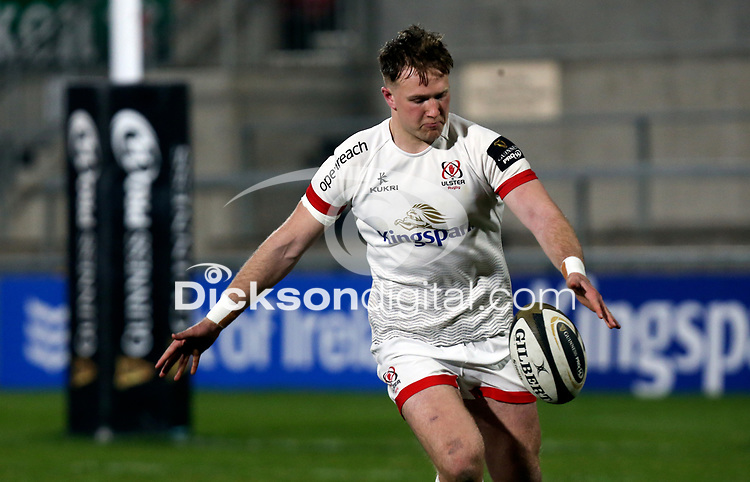 19th March 2021;   Stewart Moore during the final round of the Guinness PRO14 against Zebre Rugby held at Kingspan Stadium, Ravenhill Park, Belfast, Northern Ireland. Photo by John Dickson/Dicksondigital