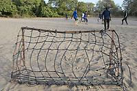 SENEGAL, Benedictine monastery Keur Moussa, monks play football / Senegal, Benediktinerkloster Keur Moussa, Mönche spielen Fußball