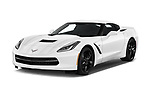 2019 Chevrolet Corvette-Stingray 3LT 2 Door Coupe Angular Front stock photos of front three quarter view