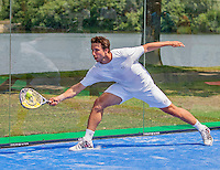Den Bosch, Netherlands, 07 June, 2016, Tennis, Ricoh Open, Igor Sijsling (NED) plays Padel<br /> Photo: Henk Koster/tennisimages.com