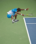 Gael Monfils (FRA)  in the final at Legg Mason Tennis Classic in Washington D.C. on August 7, 2011.
