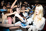 """Elle Fanning, Jun 23, 2014 : Tokyo, Japan : The actress Elle Fanning greets fans during the Japan premier for the film """"Maleficent"""" in Yebisu Garden Place on June 23, 2014. The movie will be released on July 5th. (Photo by Rodrigo Reyes Marin/AFLO)"""