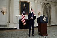 U.S. President Joe Biden departs after delivering remarks on the March jobs report at the White House in Washington on April 2, 2021. <br /> Credit: Yuri Gripas / Pool via CNP /MediaPunch