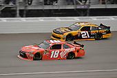 #18: Kyle Busch, Joe Gibbs Racing, Toyota Camry Maltesers and #21: Daniel Hemric, Richard Childress Racing, Chevrolet Camaro South Point Hotel & Casino