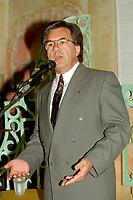Montreal (qc) CANADA - file Photo - 1992 - Yvon Picotte speak at <br /> <br /> <br /> 'Union des Municipalites du Quebec convention in April -