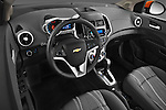 High angle dashboard view of a 2013 Chevrolet Sonic LT 5 Door