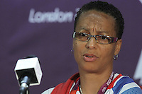 GB Coach Hope Powell attends the Team GB Women Press Conference at the Millenium Stadium, Cardiff, Wales - 27/07/12 - MANDATORY CREDIT: Gavin Ellis/SHEKICKS/TGSPHOTO - Self billing applies where appropriate - 0845 094 6026 - contact@tgsphoto.co.uk - NO UNPAID USE.