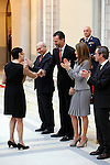 Blanca Portillo, Prince Felipe of Spain and Princess Letizia of Spain attend the National Awards of Culture 2011 and 2012 at Palacio de El Pardo. February 19, 2013. (ALTERPHOTOS/Caro Marin)