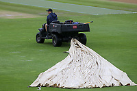 Sussex groundstaff move into action as rain and bad light stop play during Sussex CCC vs Glamorgan CCC, LV Insurance County Championship Group 3 Cricket at The 1st Central County Ground on 5th July 2021