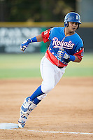 Gabriel Cancel (12) of the Burlington Royals rounds the bases after hitting a home run against the Bluefield Blue Jays at Burlington Athletic Stadium on June 26, 2016 in Burlington, North Carolina.  The Blue Jays defeated the Royals 4-3.  (Brian Westerholt/Four Seam Images)
