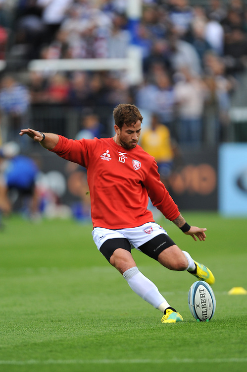 Danny Cipriani of Gloucester Rugby warms up before the Gallagher Premiership Rugby match between Bath Rugby and Gloucester Rugby at The Recreation Ground on Saturday 8th September 2018 (Photo by Rob Munro/Stewart Communications)