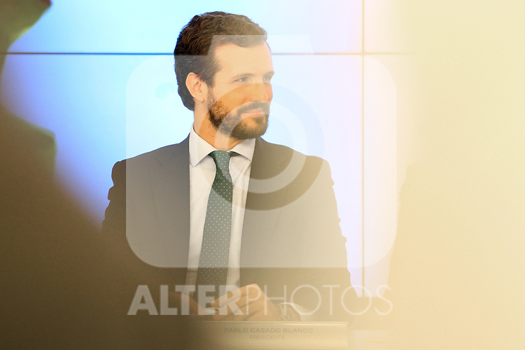 Pablo Casado (PP) attends the Central Executive Board meeting to evaluate the election results on November 12, 2019 in Madrid, Spain.(ALTERPHOTOS/ItahisaHernandez)