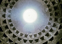View of the oculus, The Pantheon, Rome, Italy