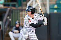 Jackson Generals center fielder Evan Marzilli (45) at bat during a game against the Chattanooga Lookouts on April 27, 2017 at The Ballpark at Jackson in Jackson, Tennessee.  Chattanooga defeated Jackson 5-4.  (Mike Janes/Four Seam Images)